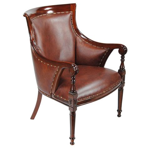 Regency Chairs by Leather Regency Chair Niagara Furniture Genuine Leather