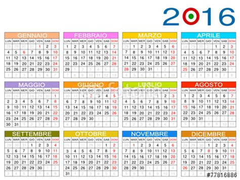 I Calendario Net 2016 Quot Calendario 2016 Italia Quot Stock Image And Royalty Free