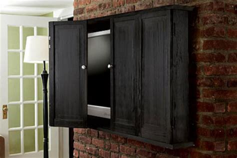 flat screen tv wall cabinet with doors how to build a wall hung tv cabinet this house