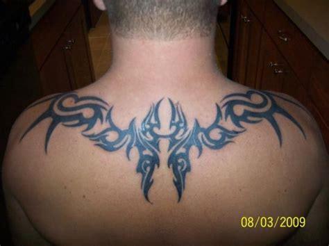 tribal back piece tattoos tribal black ink back tattooshunt