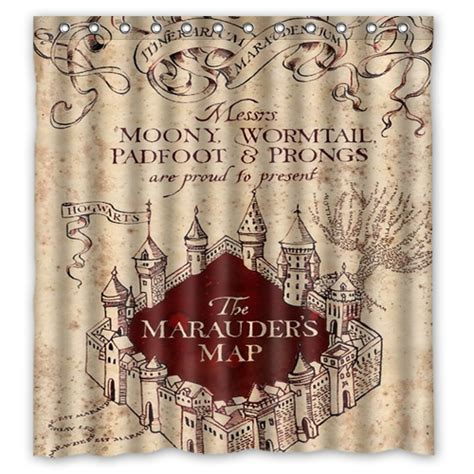 harry potter curtains harry potter marauders map shower curtain mycasescovers