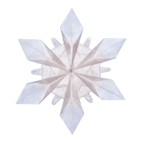 Origami Paper Snowflake - origami snowflakes stock photo image of blue element