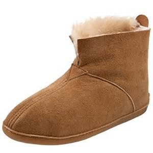 Bedroom Slippers Men amazon com minnetonka men s sheepskin ankle boot slipper
