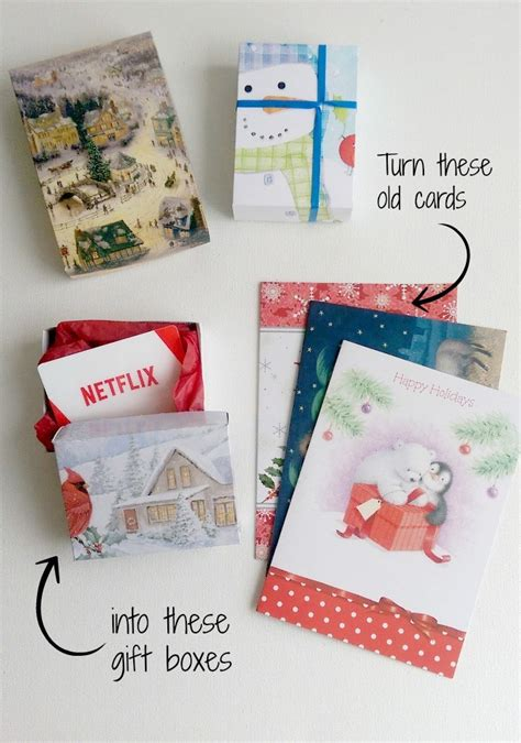 Christmas Gift Card Boxes - diy gift boxes up cycling christmas cards life in pleasantville