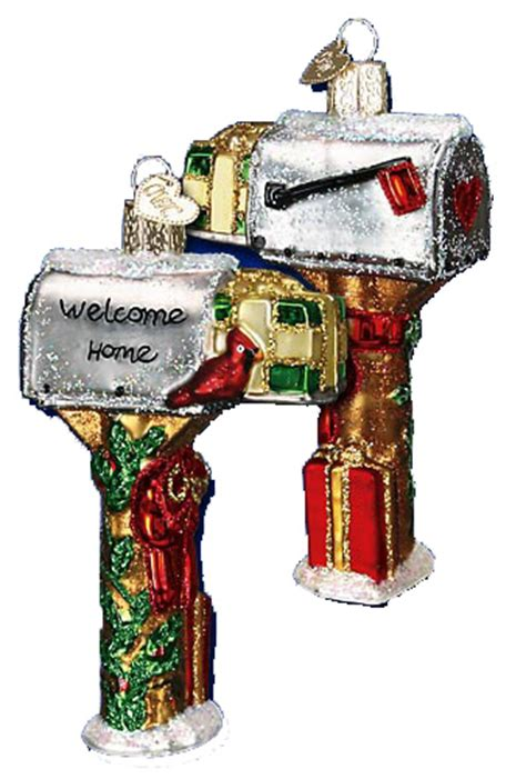 Christmas Ornaments - old world christmas ornaments welcome home mailbox 32079