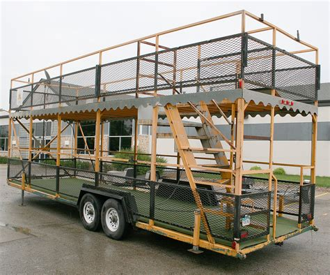 back left portable double decker party trailer   Iowa City, Cedar Rapids: Party and Event Rentals