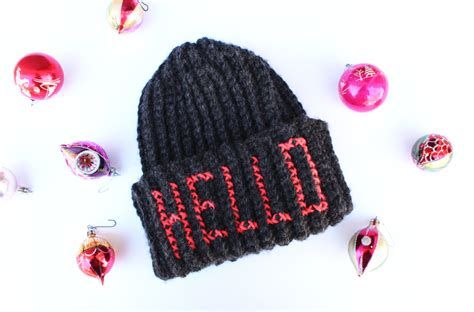 Lettering Beanie Hat diy embroidered letters beanie hat the drop stitch