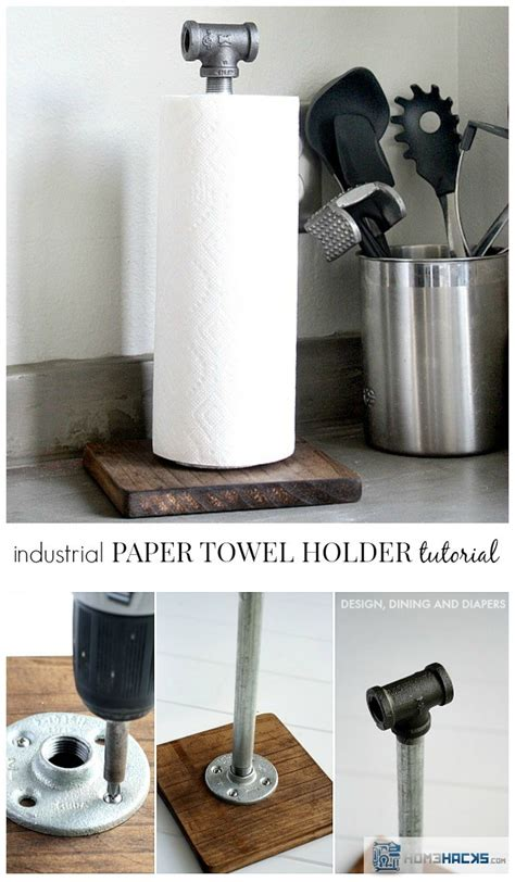 How To Make A Paper Towel Holder - how to build a cool industrial paper towel holder homehacks