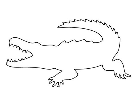template of crocodile crocodile pattern use the printable outline for crafts creating stencils scrapbooking and
