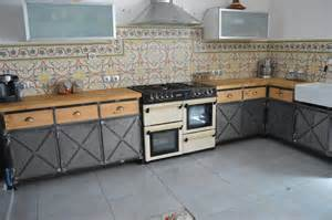 meuble industriel cuisine vintage acier et bois meubles