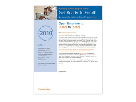 open enrollment flyer template open enrollment toolkit trion communications