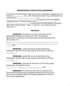 Partnership Agreement Template California Sample Partnership Dissolution Agreement Templates 7