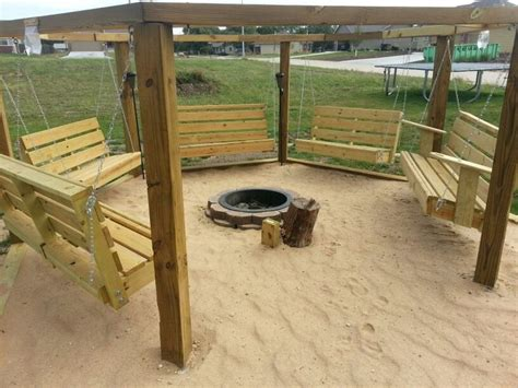 Beach Theme Swings Around A Fire Pit Home Projects Backyard Themed Pit