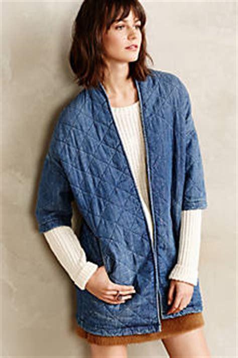 Denim Kimono Outer denim quilted kimono