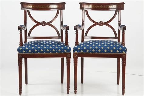 Regency Dining Room Furniture Set Of Ten Regency Style Brass Inlaid Mahogany Dining Chairs 20th Century At 1stdibs