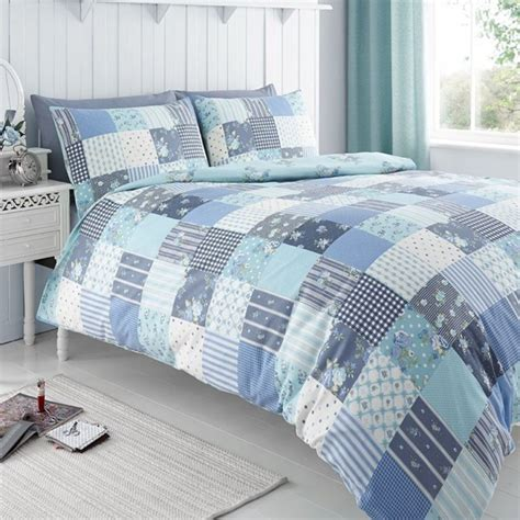 Patchwork Duvet Cover King Size - changingbedrooms king size classic molly blue floral