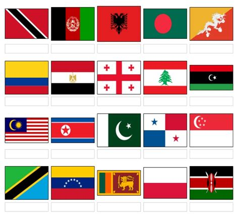 flags of the world pictures with names name these world flags