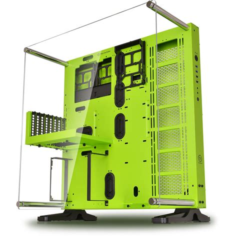 Sharkoon Dg7000 Green Acrylic Windowed Atx Mid Tower Gaming thermaltake p5 mid tower green ca 1e7 00m8wn