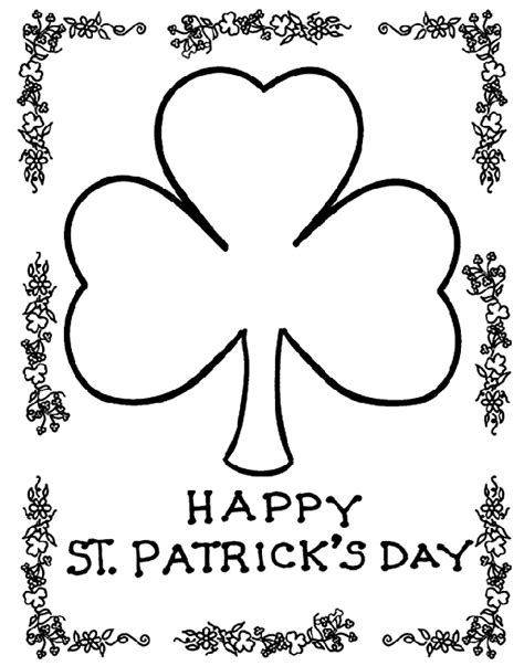printable coloring pages st s day shamrock crayola ca