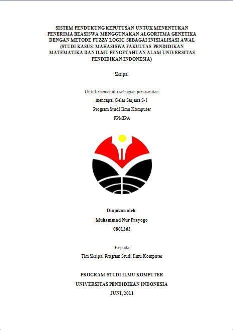 format makalah untuk mahasiswa membuat proposal skripsi universitas pendidikan indonesia