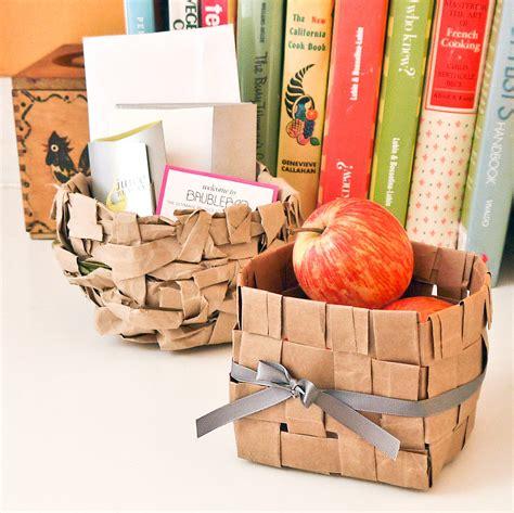 paper bag baskets popsugar smart living