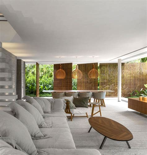 brazilian home design trends modern tropical minimalist house by studio mk27 interiorzine