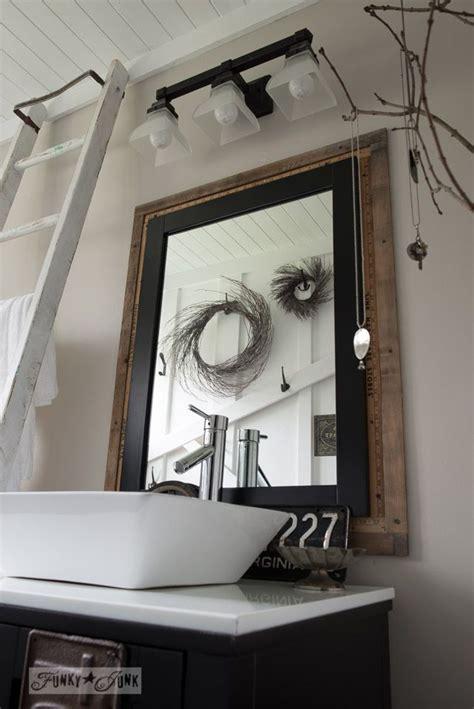 salvaged farmhouse bathroom makeover  vintage trim