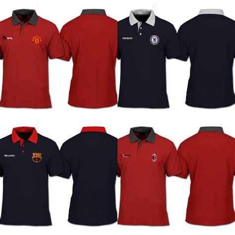 Kaos Kerah Polo Shirt Club jual kaos polo shirt bola mu manchester united ggmu polos