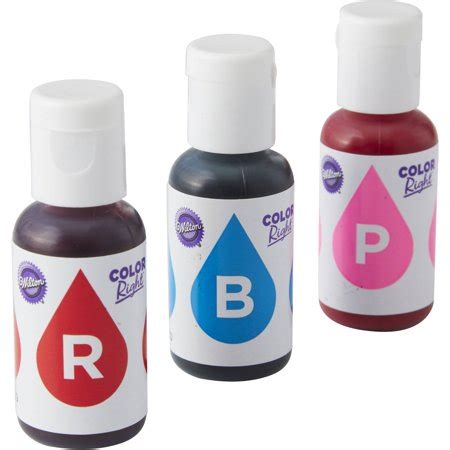 food coloring at walmart wilton blue and pink color right performance color system