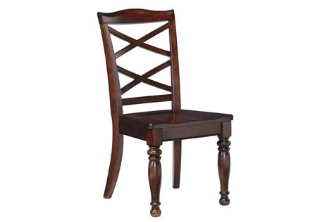 ashley dining room chairs porter dining room side chairs in rustic brown set of 2