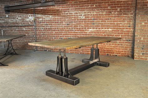 industrial kitchen furniture post industrial conference table industrial table