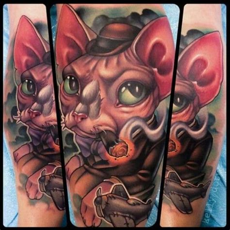 tattoo cat smoking 17 best images about illustrative new school tattoos on