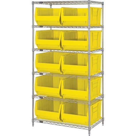 Bin Storage Unit by Quantum Storage Bin Shelving System 30in L X 36in W