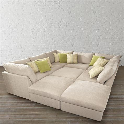 sectional pit pit sectional sofa pearce upholstered 6 pit sectional