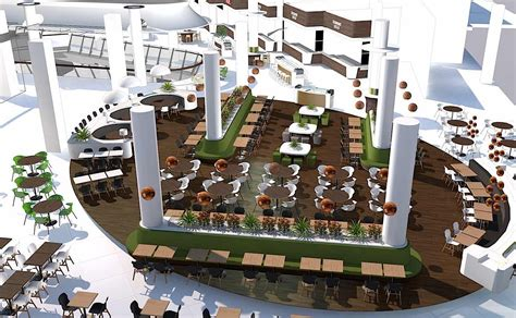food court layout and design bulgaria mall interiors nugget design