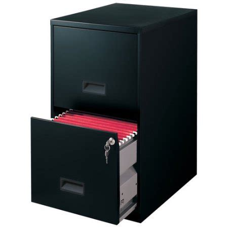 Metal 2 Drawer File Cabinet 2 Drawer Steel File Cabinet With Lock Black Walmart