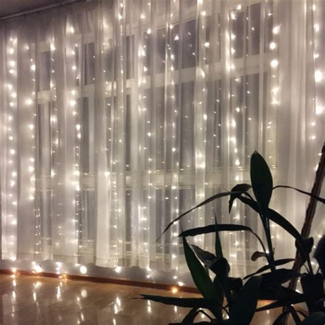 curtain lights christmas 400 led string curtain fairy lights window icicle