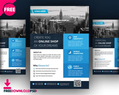 real estate flyer template free psd download creative genie