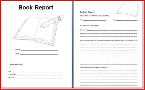 sixth grade book report book report template 6th grade project edu hash
