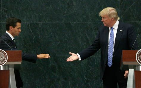 donald presidential picture talks wall with mexico s pena nieto echonetdaily