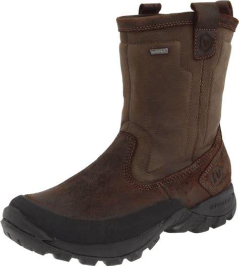 merrell mens winter boots usa merrell mens bergenz waterproof winter boot brown