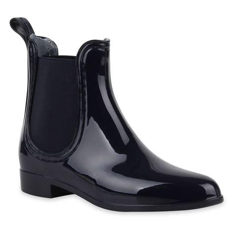 Lack Stiefeletten Damen by Bequeme Damen Stiefeletten Gummistiefel Lack Regen Schuhe