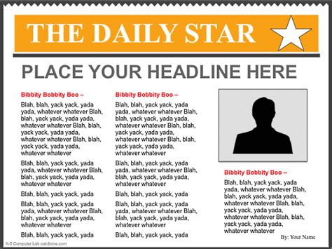 newspaper template search results calendar 2015