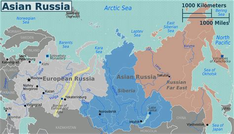 russia map asia europe is russia in asia