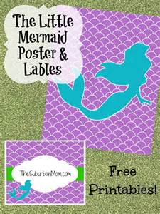 the little mermaid party poster amp labels free printable