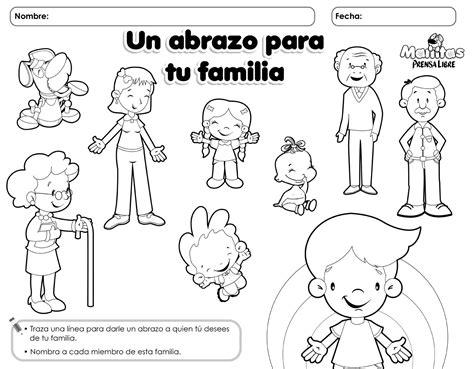 imagenes para colorear sobre la familia miembros de la familia la familia pinterest