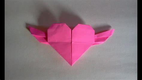 membuat origami hati origami love youtube