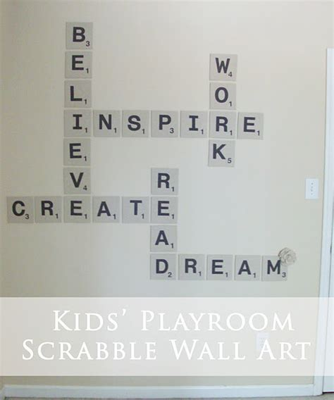 dy scrabble word tuesday transformation scrabble wall