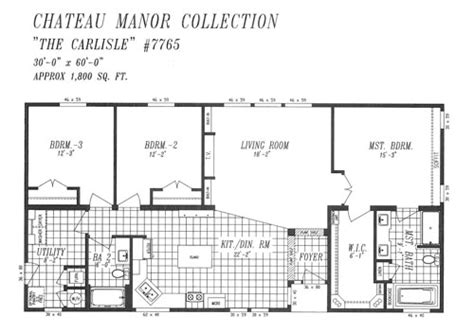 30x60 house floor plans floor plans chateau manor heritage home center