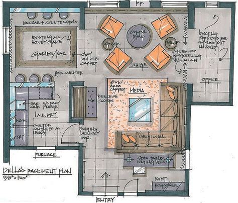floor plan rendering techniques 27 best renderings images on pinterest